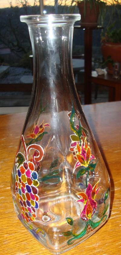 Peinture sur autre support en verre for Desherbant eau sel vinaigre